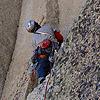 MANUEL LÓPEZ, Escalada A vista Etat de Choc (7a, 280m) Petit Clocher du Portalet - BECAS TODOVERTICAL 2013