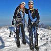 VIRGINIA CHINCHILLA - DOME de NEIGE 4.015m y BARRE des ECRINS 4.102m - BECAS TODOVERTICAL 2013