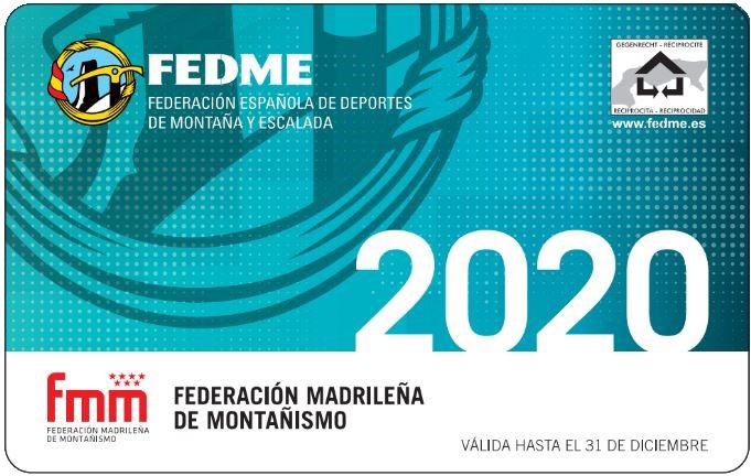 REGISTRO DE SOCIO Y LICENCIA FEDERATIVA FEDME ONLINE 2020